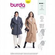 6394 Burda Pattern: Misses' Plus Size Coats